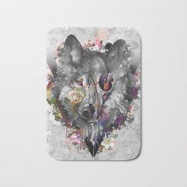 floral wolf 3 Bath Mat