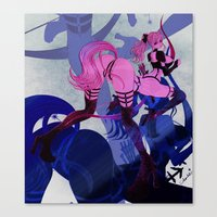 sagittarius Canvas Prints featuring SAGITTARIUS by Chandelina