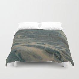 White Rivers, Acrylic Pour Duvet Cover