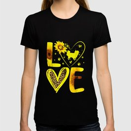 Love Japanese Chin Sunflower For Dog T-shirt
