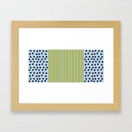 The Blueberry Stripe Blues  Framed Art Print