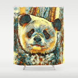 AnimalArt_Panda_20170901_by_JAMColorsSpecial Shower Curtain
