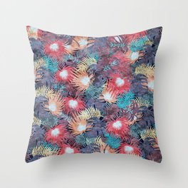 Tropical Leaves #04 Throw Pillow