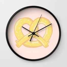 GOOD PRETZEL Wall Clock