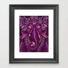 Sleeping Ganesha Framed Art Print
