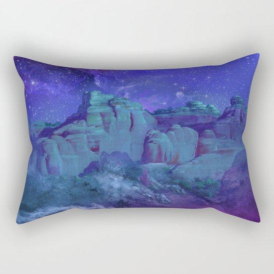 purple desert landscape Rectangular Pillow