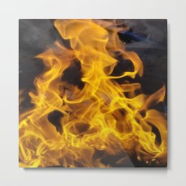 Fire Square Metal Print