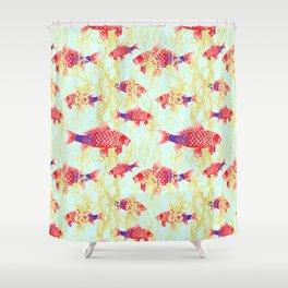Carpe Diem  with Seaweed Shower Curtain