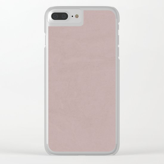 Simply Clay Pink Clear iPhone Case