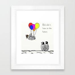 To be a Flying Penguin Framed Art Print