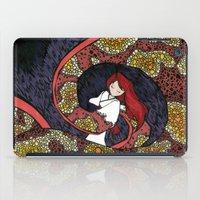 depression iPad Cases featuring Depression Repression by Danielle Quackenbush