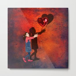 Banksy the love balloons girl iPhone 4 5 6 7 8 x, tshirt, mugs and pillow case Metal Print