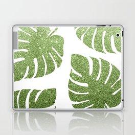 Glitter Monstera Leaves Laptop & iPad Skin