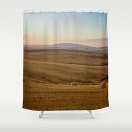 Wheat fields of the Overberg - Landscape Photography Shower Curtain
