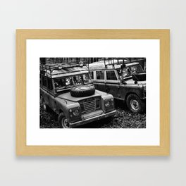 Heritage Rovers in BW Framed Art Print