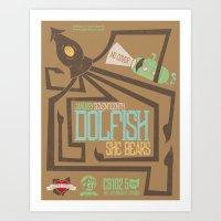 Dolfish (local love) Art Print
