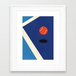 Jumping Tennis Ball Framed Art Print