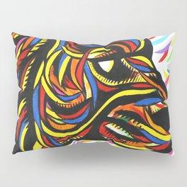 Colorful Lion Art  Pillow Sham