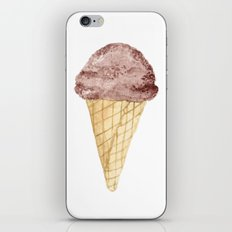 Watercolour Illustrated Ice Cream - Chocolate Dream iPhone & iPod Skin