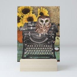 Office Owl Mini Art Print