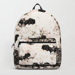 Vintage Halloween Bat pattern Backpack