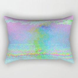 08-24-89 (Digital Drawing Glitch) Rectangular Pillow