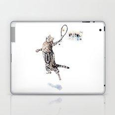 Cat Playing Tennis Laptop & iPad Skin