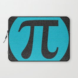 First 10,000 digits of Pi, blue on black. Laptop Sleeve
