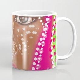 Lady Beauty Abstract Portrait Coffee Mug