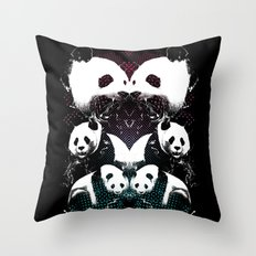 PANDA COLLIDE Throw Pillow