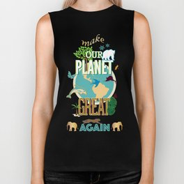 Make Our Planet Great Again Biker Tank