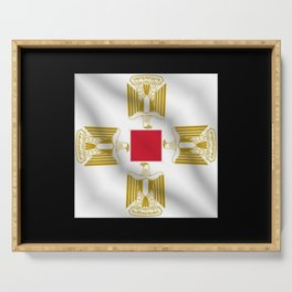 Egypt Flag Square Block Projection Alternative Idea Trial Serving Tray