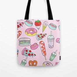 Pastel Junk Food Tote Bag