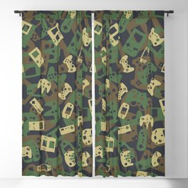 Gamer Camo WOODLAND Blackout Curtain