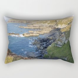 Godrevy Beach. Seal lookout. Coast Path, Hayle, Cornwall Rectangular Pillow