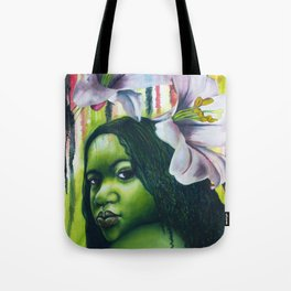 Green Lilly Tote Bag