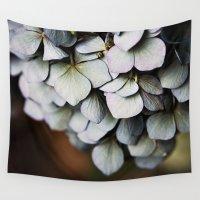 chandelier Wall Tapestries featuring Chandelier Hydrangea by Regina Mountjoy