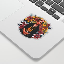 Frida Tropical Sticker
