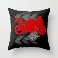 racing Throw Pillows featuring Racing by Ezgi Kaya