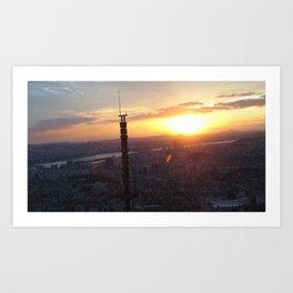 Sunset in Seoul Art Print