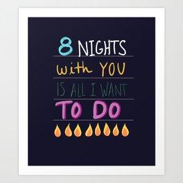 Chanukah 8 Nights Art Print