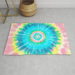 Colorful Tie Dye Shibori Rug
