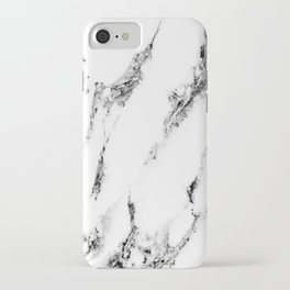 white marble no. 1 iPhone Case