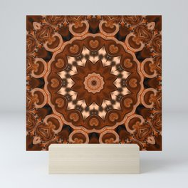 Copper kaleidoscope of colors II Mini Art Print
