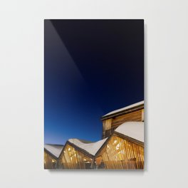 Triangles & Snow Metal Print