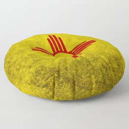 Flag of New Mexico - vintage retro style Floor Pillow
