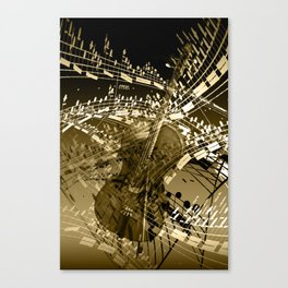 The Swirl of Music in Sepia Canvas Print