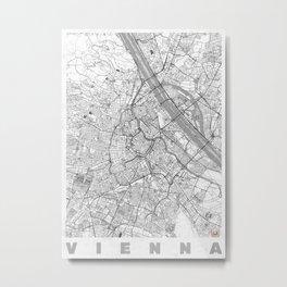 Vienna Map Line Metal Print