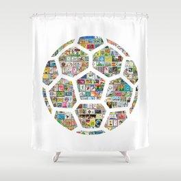Philately Soccer Ball Shower Curtain