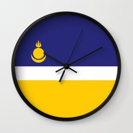 buryatia flag Wall Clock